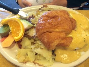 Brown Bag Cafe Eggs Benedict Croissant
