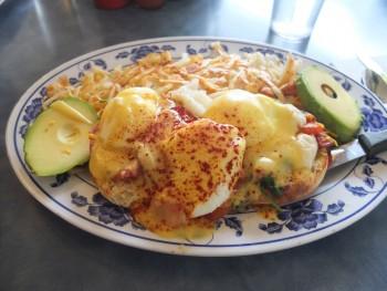 Pete's Eggnest Benedict