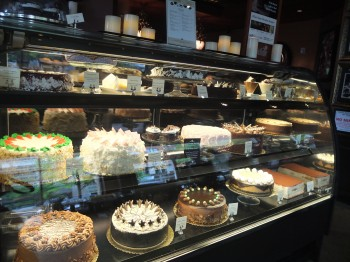 Dilettante Mocha Cafe Cake Display