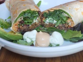 Plum Bistro Macho Burrito Open