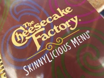 Cheesecake Factory SkinnyLicious Menu