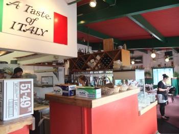 That's a Some Italian Ristorante Kitchen & Signage