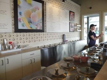 Mora Iced Creamery Behind the Bar