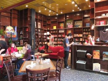 Bus Boys & Poets Shirlington Bookshelves