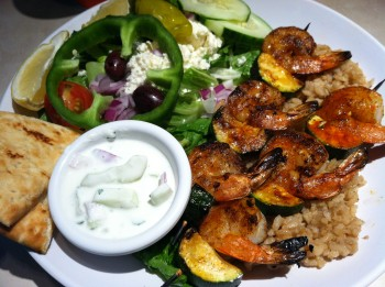 Shrimp Kabobs with Rice