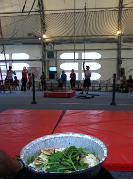 Eating at the Trapeze School
