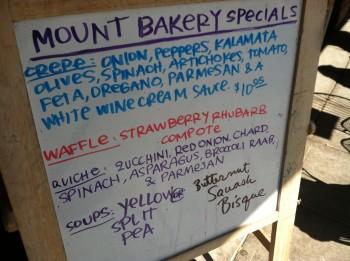 Mt Bakery Sandwich Board