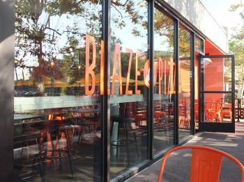 Blaze Window Sign
