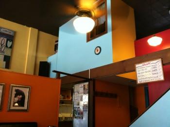 Sunlight Cafe color block walls