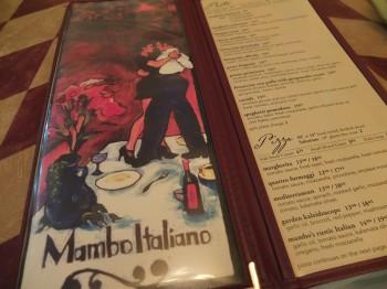 Mambo Italiano menu