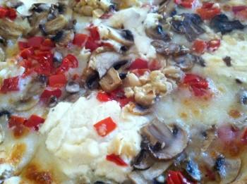 Italian Family Pizza White Pie Close-up