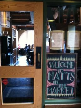 Matt's in the Market Welcome