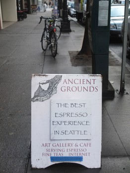 Ancient Grounds Sandwich Board