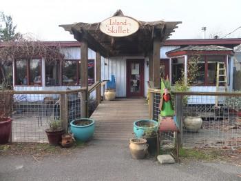 Island Skillet Front Walkway