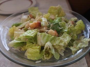 Five Columns Caesar Salad