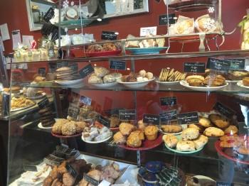 Macrina Pastry Case Atop