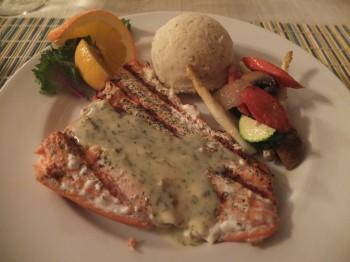 Deer Harbor Inn Restaurant Grilled Salmon