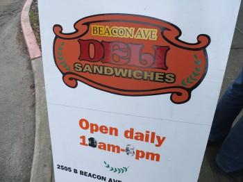 Beacon Ave Sandwich Board