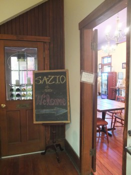 Sazio Waiting Area Signage