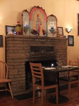 Sazio Fireplace by Night
