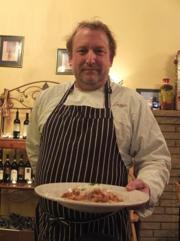 Sazio Bill Patterson Serving Our Dinners