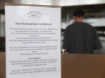 Kenny & Zuke's Pastrami Info