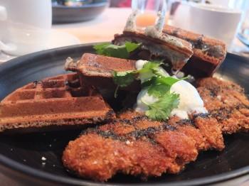 Joule Waffle with Chicken Fried Steak
