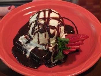 Columbia Grill & Bar Warm Fudge Brownie