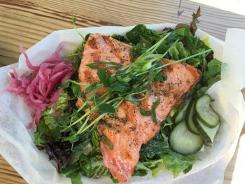 Red Fish Blue Fish Grilled Salmon with Salad 3