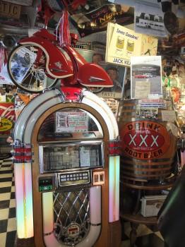 XXX Root Beer Jukebox & Tricycle