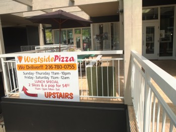 Westside Pizza Balcony