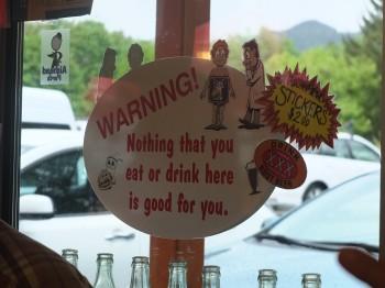 XXX Root Beer Warning Sign