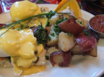 Rebar Eggs Benny Close-Up