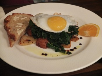 Cafe Pettirosso Duck Egg Hash