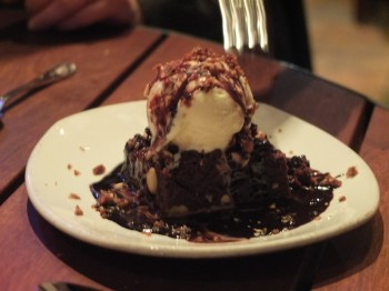 Palace Kitchen Warm Brownie Sundae