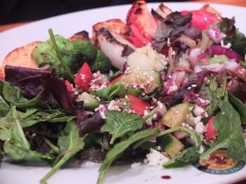 Panini Cafe Salmon Kabob & Salad
