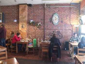 The Olive & Grape Brick Wall