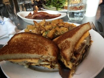 Skillet Ballard Ultimate Grilled Cheese with Poutine