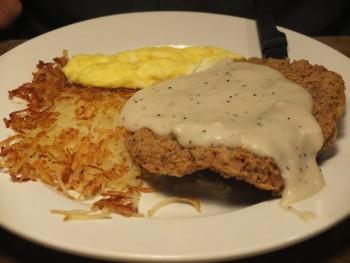 Perkins Country Fried Steak & Eggs