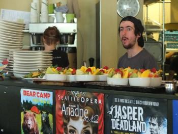 Portage Bay Cafe SLU Kitchen Staff & Fresh Fruit Bowls