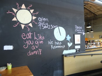 Portage Bay Cafe Ballard Chalkboard Entry