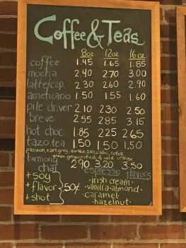 The Bagelry Coffee Menu