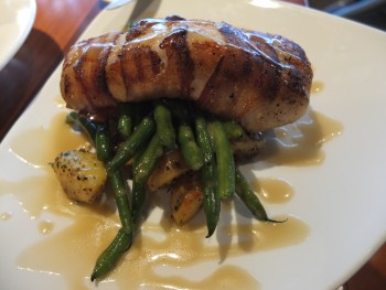 Ivar's Bacon Crusted Halibut