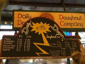 Daily Dozen Doughnut Company Menu