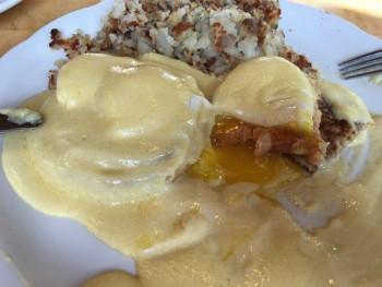 The Original Pancake House Eggs Benedict Inside