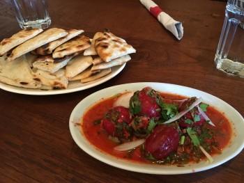 Cafe Turko Pickled Eggplant & Pita