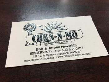 Chkn-N-Mo Business Card