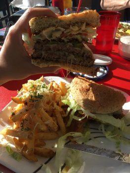 Green Light Diner Ambulance Chaser Burger Inside