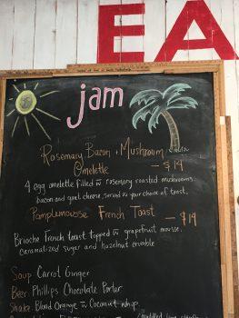 Jam Cafe Victoria Specials Board