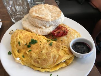 Jam Cafe Victoria Omelette & Biscuit